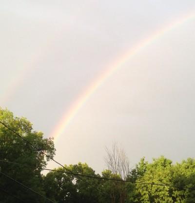 Rainbow picture symbolizing hope